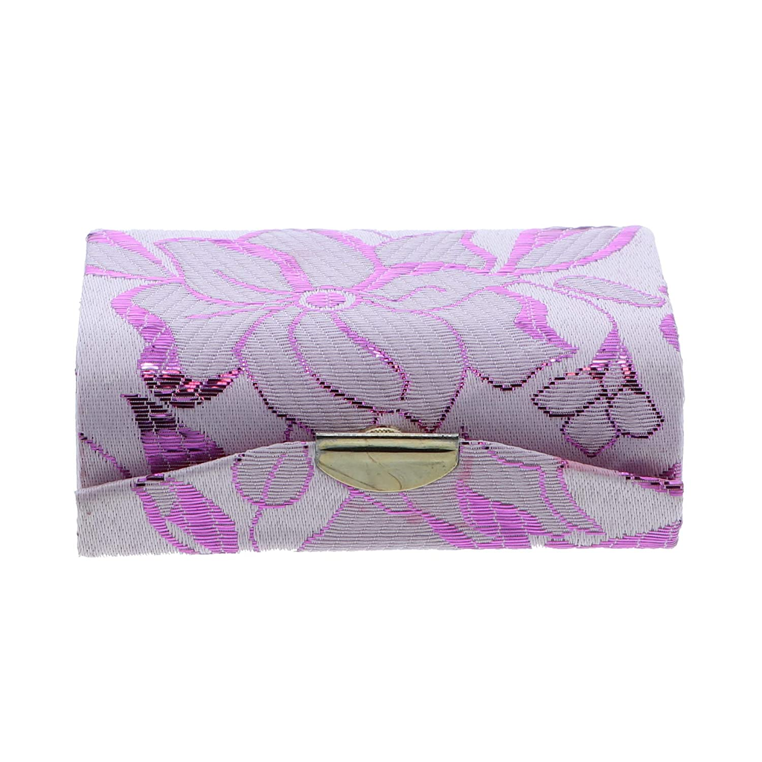 Elegant Double Lipstick Case with Mirror for Purse - Lavender