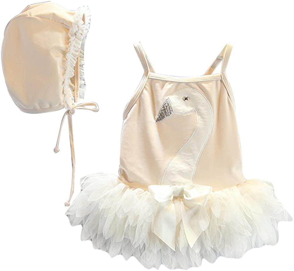 LOSORN ZPY Kid Toddler Girls Cute Swan Bathing Suit One Piece Swimsuit Swimwear