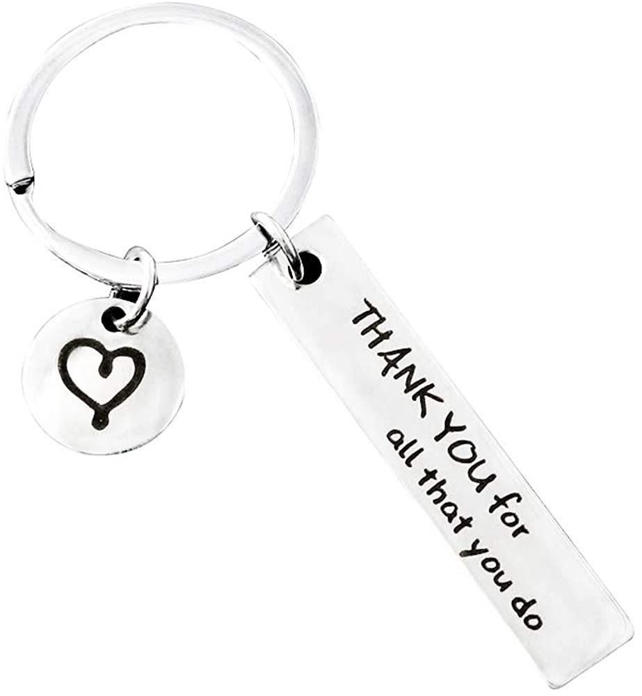 Hibetek Mentor Appreciation Gift Thank You All That You Do Keychain Thank You Gift Nurse Teacher Coach Employee