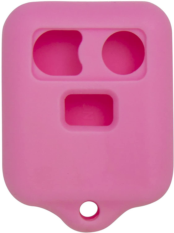 Keyless2Go New Silicone Cover Protective Case for Remote Key Fobs FCC CWTWB1U345 CWTWB1U331 GQ43VT11T - Pink