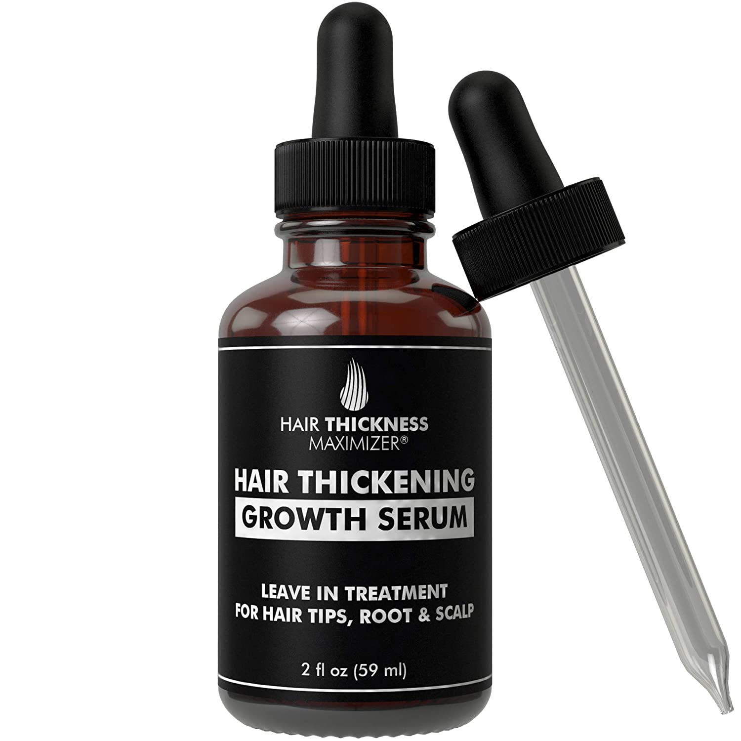 Hair Growth Serum - Hair Loss Prevention Treatment by Hair Thickness Maximizer. Best Natural Oils For Thinning Hair. Replenish Hair Follicles for Men, Women. Thickening Leave In Conditioner Serum 2oz