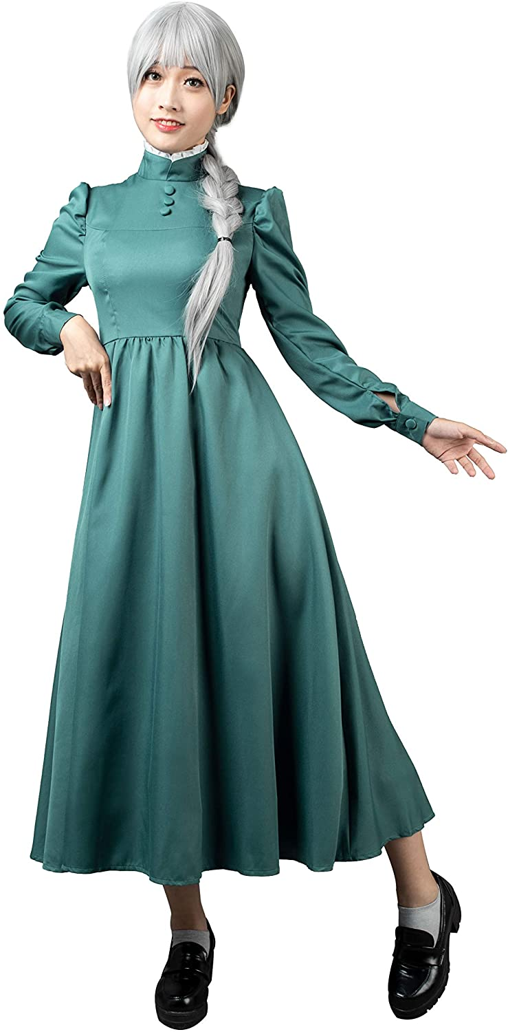 CosFantasy Sophie Hatter Cosplay Costume Green Dress mp004182