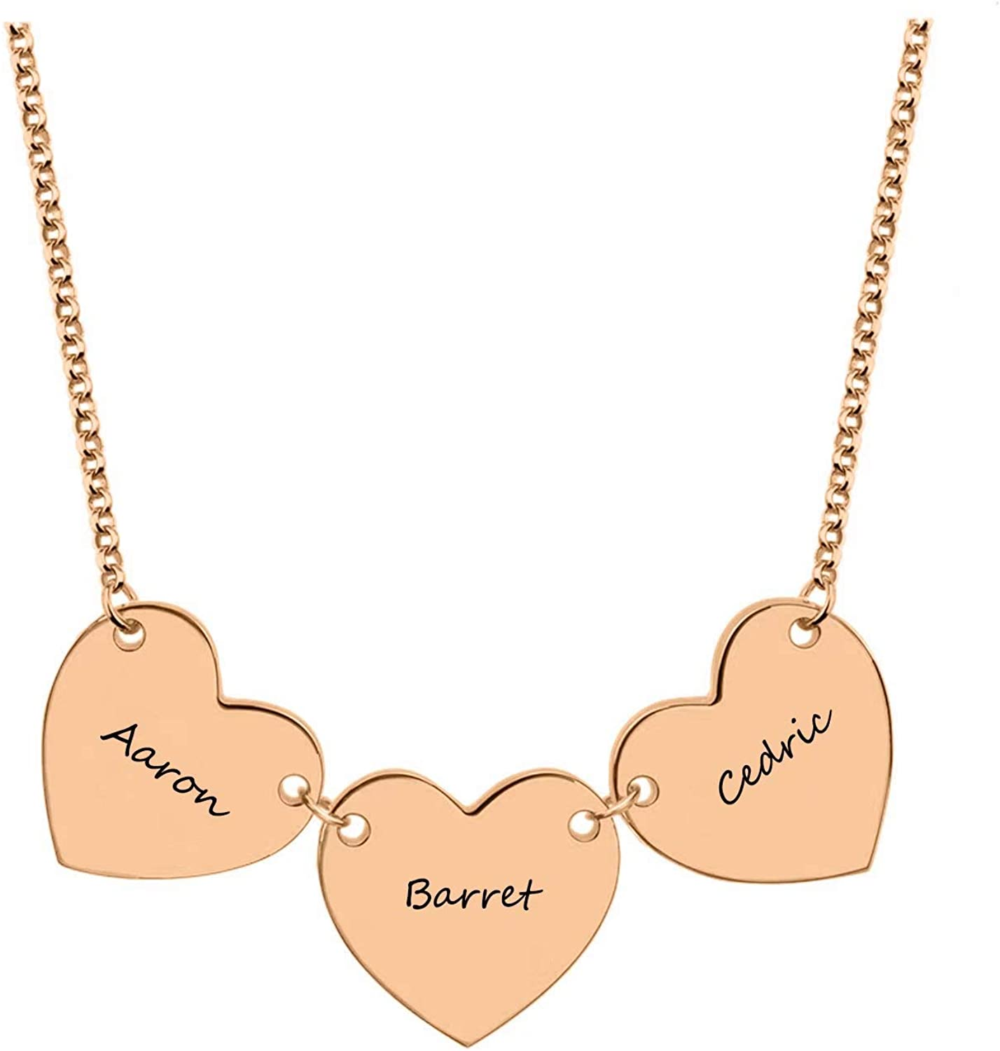 Godchoices Personalized Family Tree Necklace Engraved Name Necklace for Mothers Day Christmas
