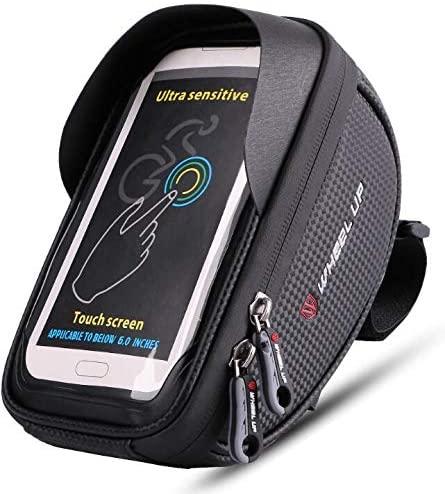 HelloCreate Bike Storage Bag, Waterproof Bike Bicycle Handlebar Cycling Riding Phone Case Pouch Bag Touchscreen