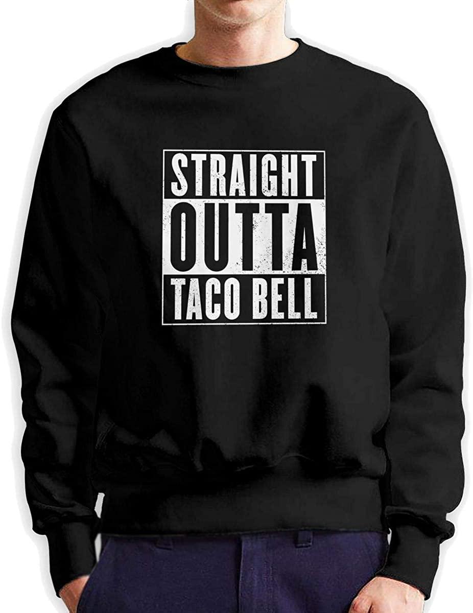 Straight Outta Taco Bell Men's Sweatshirts Pullover Crew Neck Sweatshirt,Big and Tall