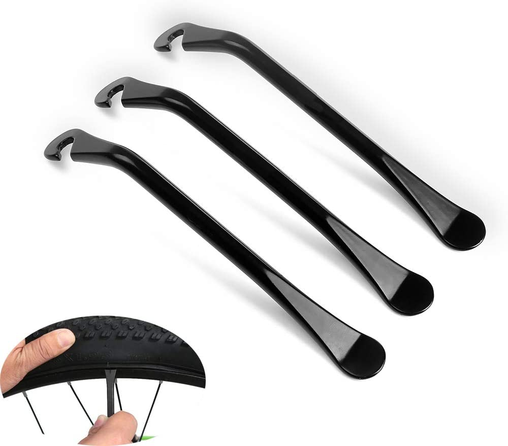 BoomYou 3PCS Cycling Tire Lever Bicycle Tire Carbon Steel High Strength Heavy Steel Tyre Campanology Levers Car Repair Tools for Car Bicycle Cycle Bike