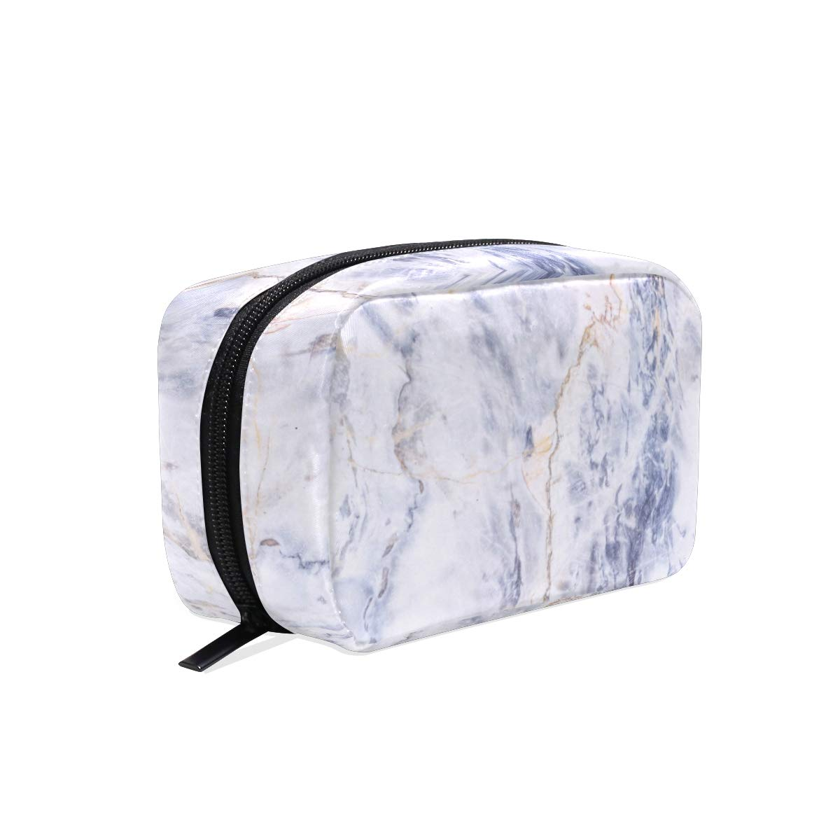 ALAZA Gray Marble Stone Texture Makeup Cosmetic Portable Pouch Bag Organizer Capacity Storage Bag Gift for Women Girls