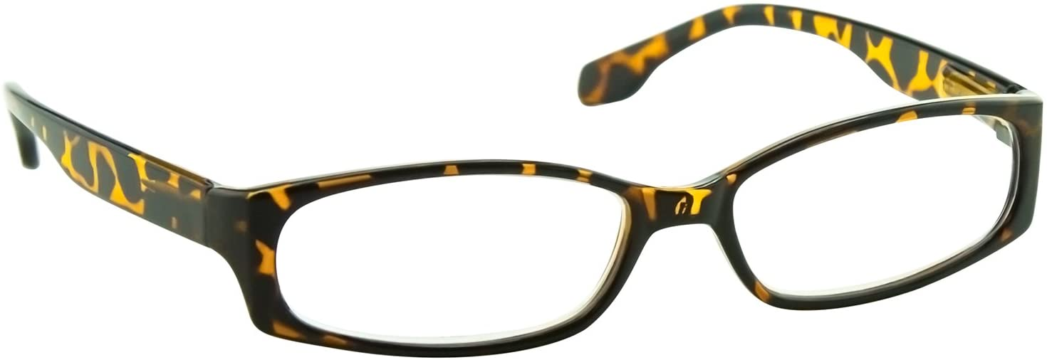 Reading Glasses 0.75 Tortoise Readers with a Sylish Look for Men and Women Spring Arms & Dura-Tight Screws Always Have a Stylish Look When You Need It