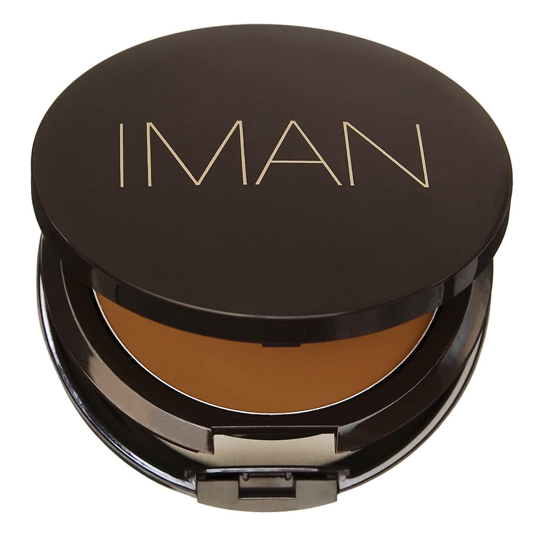 IMAN Second To None Cream To Powder Foundation, Dark Skin, Earth 2
