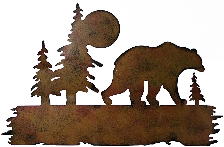 Bear Wilderness Wall Art, Metal Bear Wall Art, Bear Wall Decoration, Metal Decoration 16