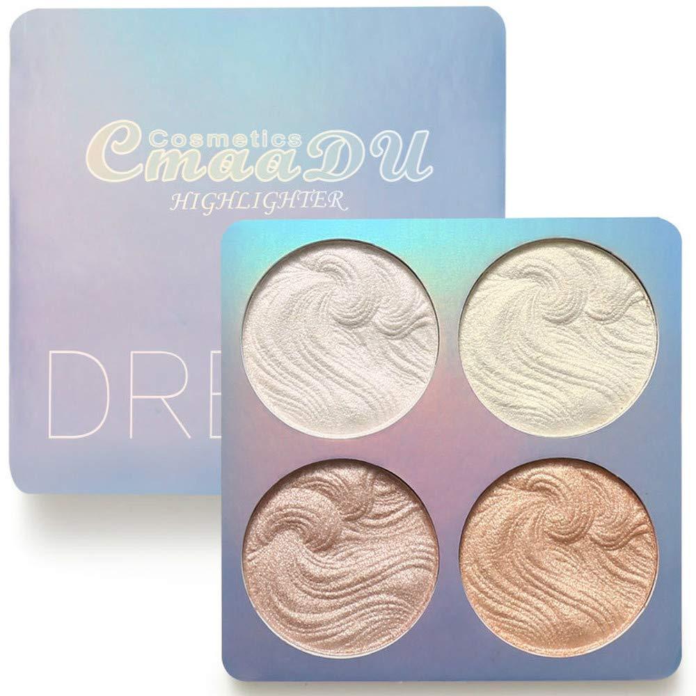 Highlighter Powder Palette 3 Colors High Gloss Shimmer Powder Bronzer Repair Haileyter Pallet Makeup Cosmetic (02)
