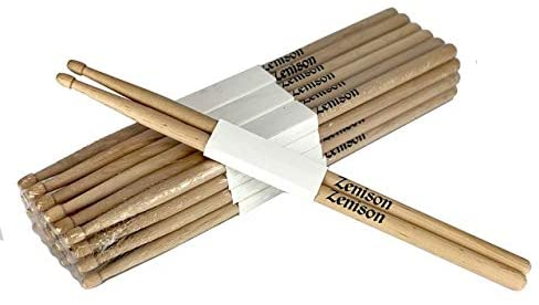 Lot of 24 PAIRS - 5A WOOD TIP NATURAL MAPLE DRUMSTICKS - PRO 48 DRUM STICKS NEW