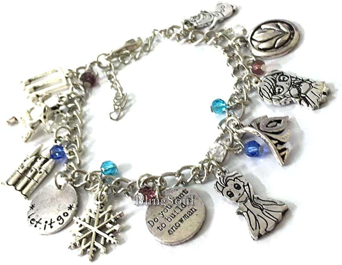 Fruzan Bracelets Jewelry Merchandise - Charm Bracelet Gift for Women (Silver)