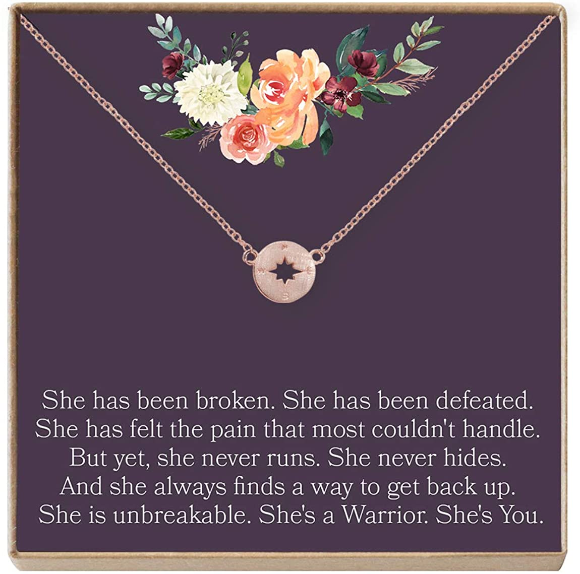 Dear Ava Thinking of You Gift Necklace: Inspirational Quote, Condolence, Cancer