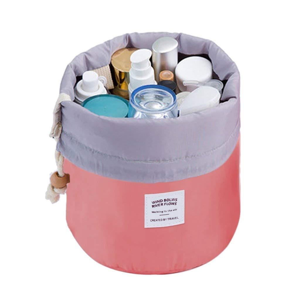 Makeup Bag, YJQueen Travel Makeup Cosmetic Pouch Portable Handbag Toiletry Case Mini Makeup Train Case Cosmetic Bag Cosmetic Organizer Travel Accessories (Red)