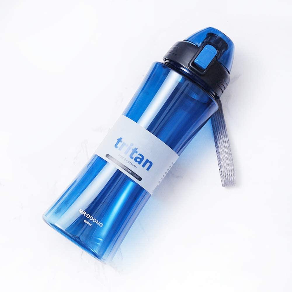 HYTX Tritan Water Bottle Best Sports Water Bottle 22oz Leak Proof BPA Free Non Toxic Reusable