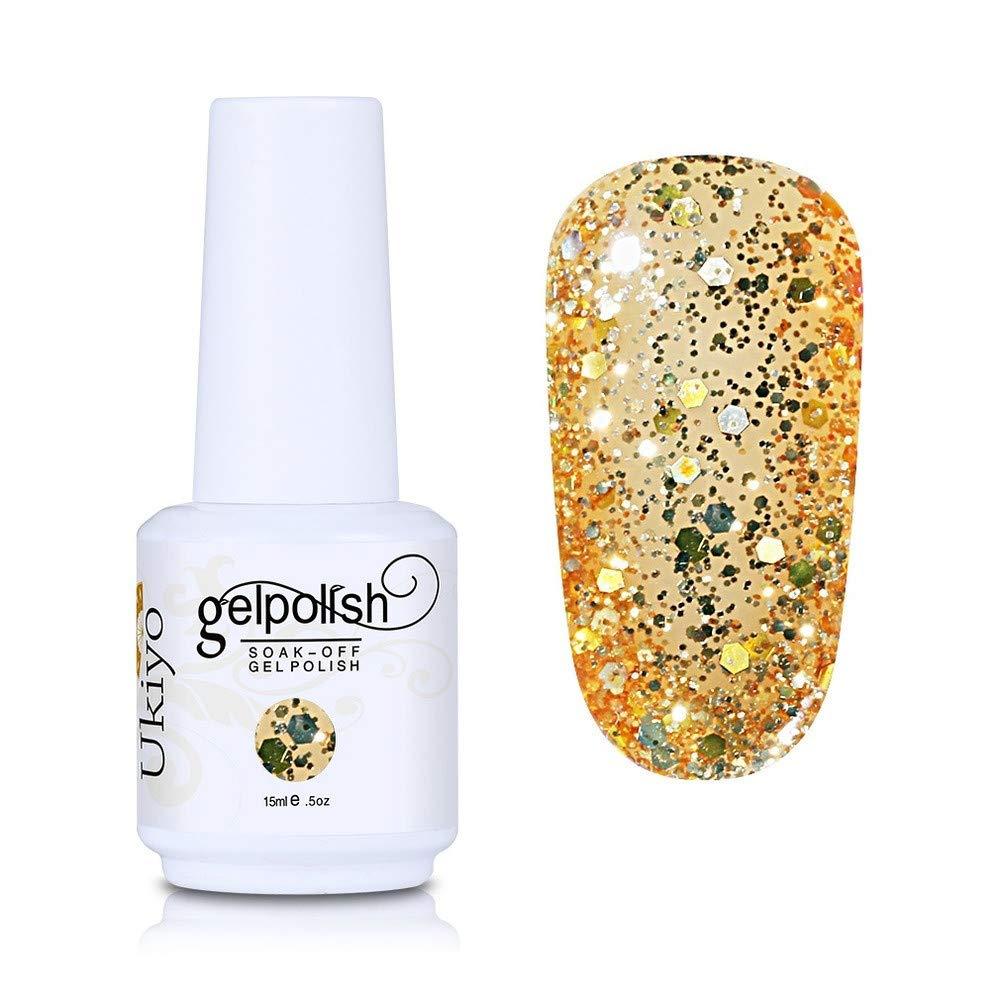 Nail Polish Glitter Gel Nail Polish Absorptive Gel Varnish Diamond Nail Polish Semi-Permanent Gel Oil (GC063)