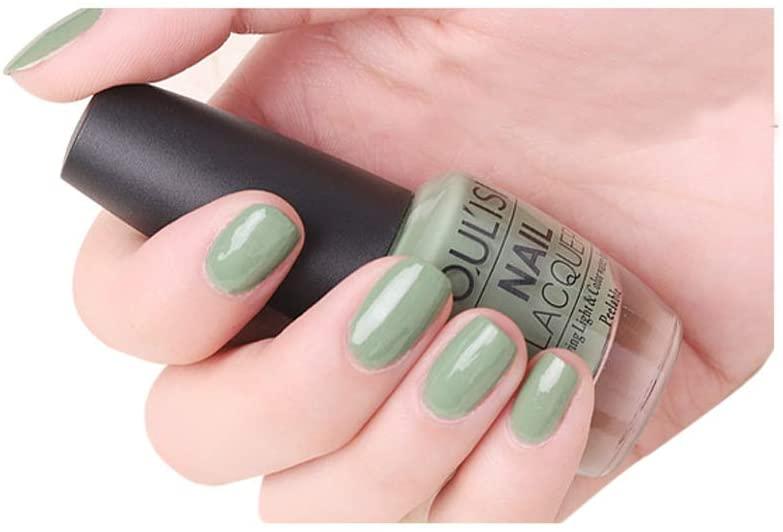 DuoYo Bean Green Nail Polish Colors,Quick Dry Nail Polish for Women and Girls,15ml