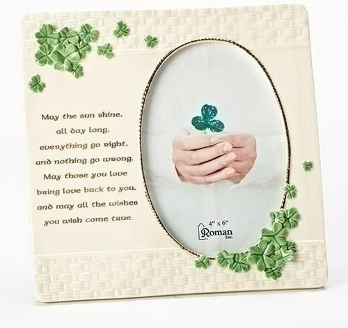 Roman Inc. - Porcelain Irish Shamrock Frame