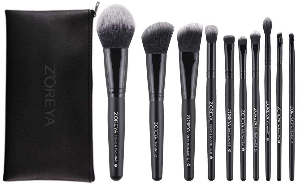 Pratcgoods Makeup Brushes Set 12Pcs Eye Makeup Brushes Set Professional Makeup Brush Essential Beauty Tool Kits for Face Powder Cream Liquid Cosmetics Eyeshadow Blending