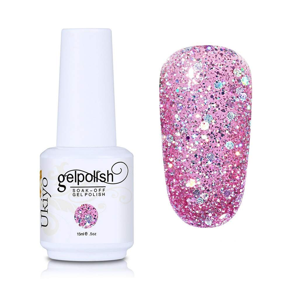 Nail Polish Glitter Gel Nail Polish Absorptive Gel Varnish Diamond Nail Polish Semi-Permanent Gel Oil (GC041)