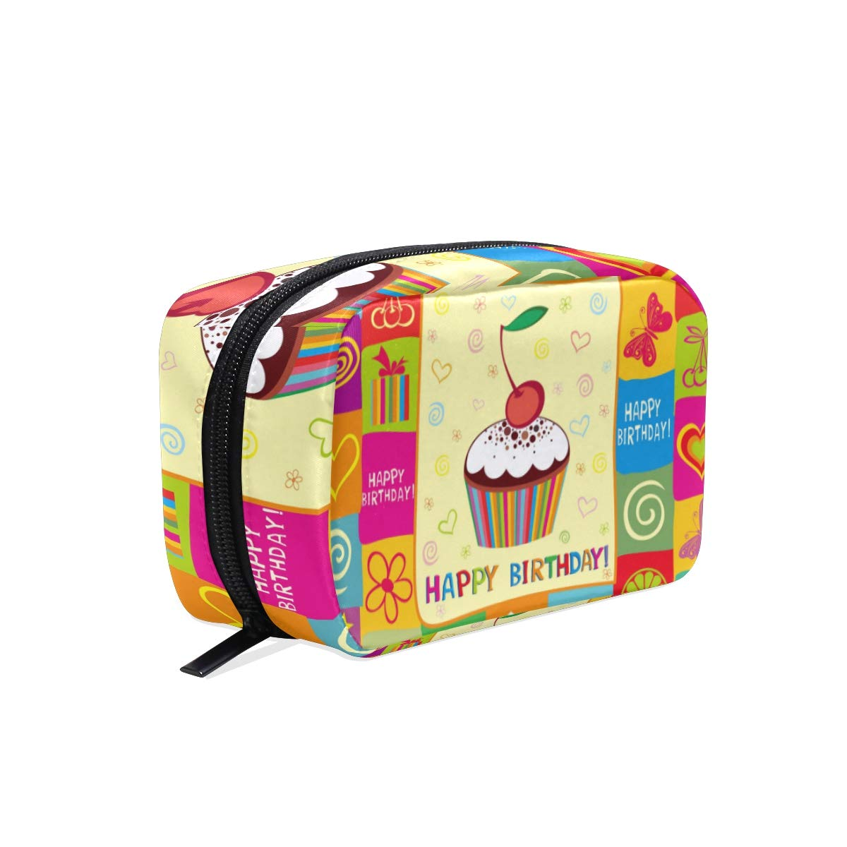 Women's Makeup Cosmetic Bag Cute Cupcake Makeup Pouch for Travel Cosmetic Pouch Purse(904c)