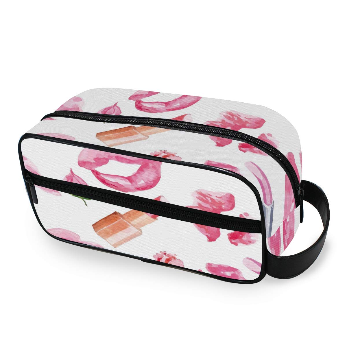 Makeup Bag Portable Travel Cosmetic Toiletry Bag Lipstick Kiss Prints Organizer Accessories Case Tools Case for Beauty Women