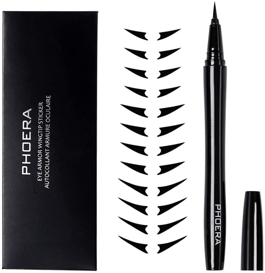 Fasclot PHOERA Waterproof Liquid Eyeliner Makeup Eye Liner Pen Eyeliner Stickers Kit10ml Health and Beauty Eyeliner