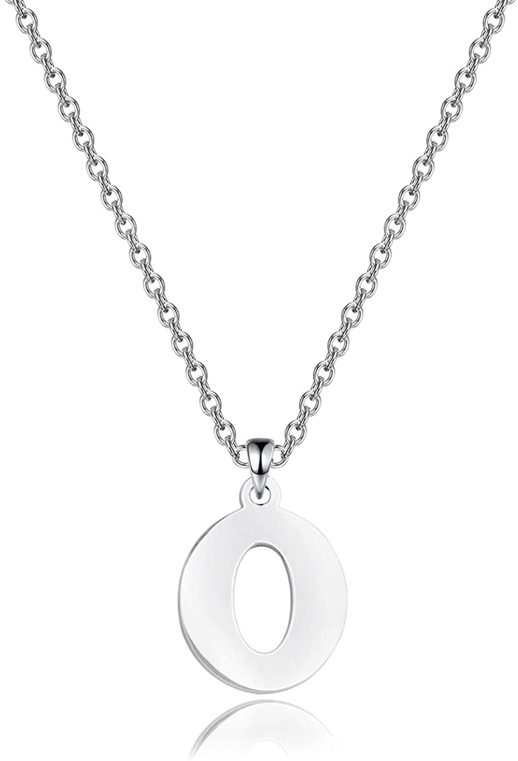 ENSIANTH Lucky Number Necklace Stainless Steel Pendant Necklace Best friend Gift Birthday Gift Number 0-9