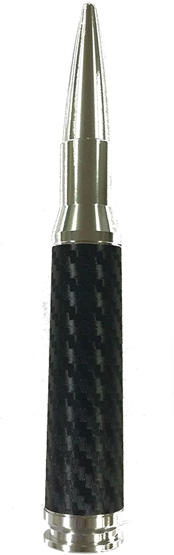 AntennaX 50 Cal Silver Bullet (5.5-inch) Ammo Antenna for GMC Yukon