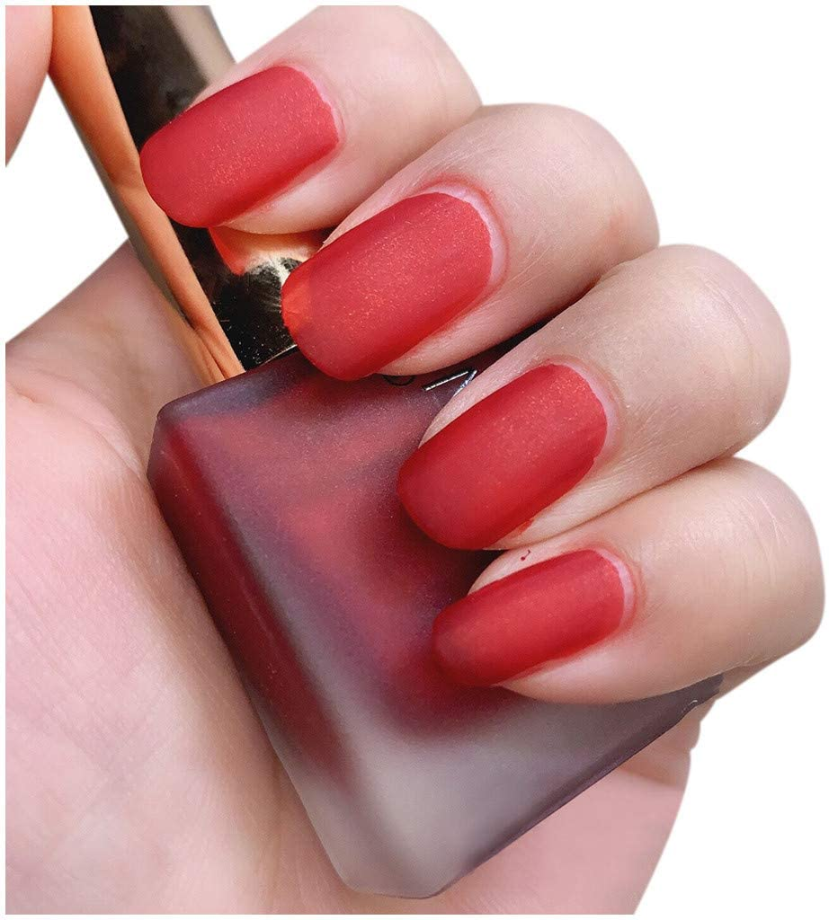 Kecar 13ML Matte Nail Polish Health Nontoxic Peelable Breathable Nail Polish, Nail Art Products for Women Girls (Y)