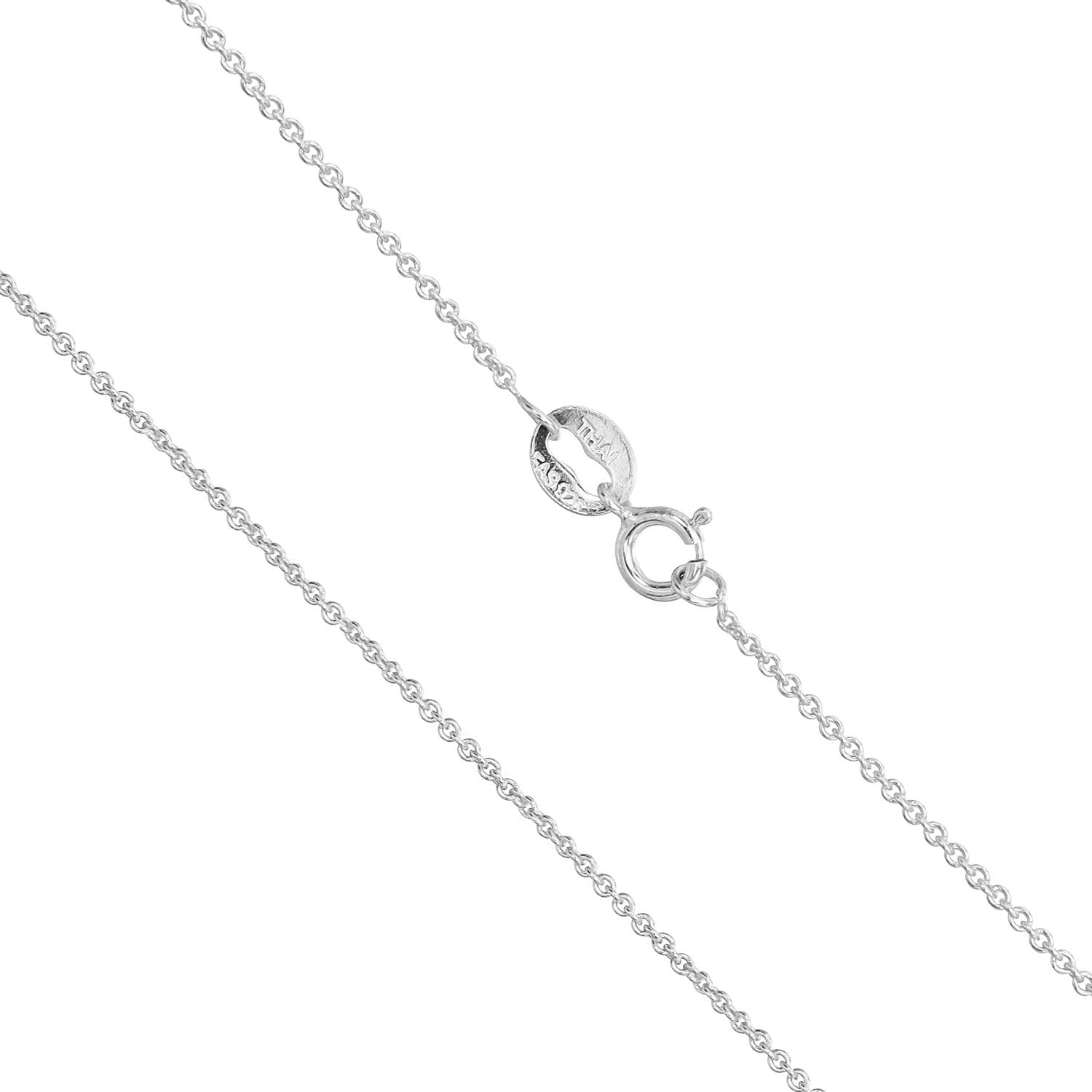 Sea of Ice Sterling Silver 1mm Round Cable Chain Necklace for Women, Girls, Men 14-36 inch