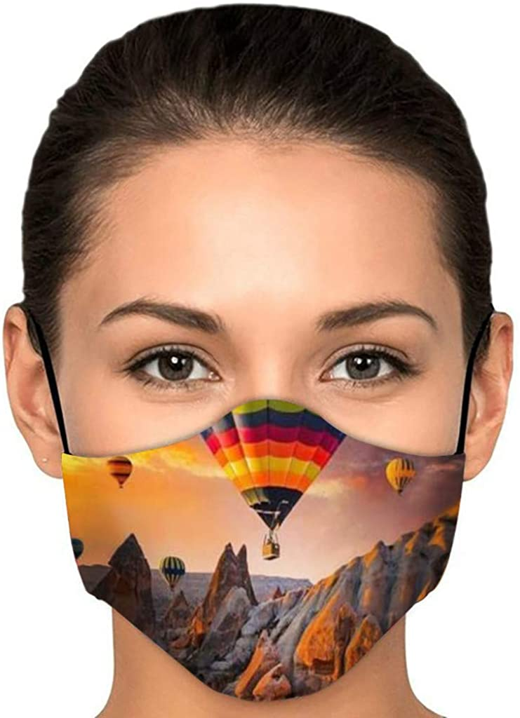 1PCS Halloween Funny Printed Cloth Face_Mask Adults Adjustable Fashion Reusable Breathable Washable Cycling Bandanas