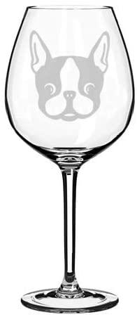 Wine Glass Goblet Boston Terrier Puppy (20 oz Jumbo)