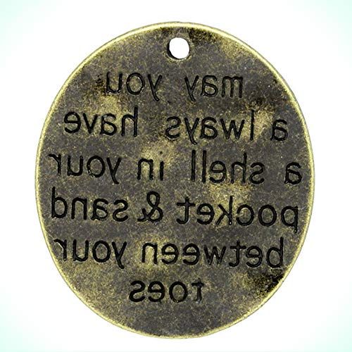 Bronze MAY YOU ALWAYS HAVE A SHELL IN 30mm Affirmation Charm or Pendant