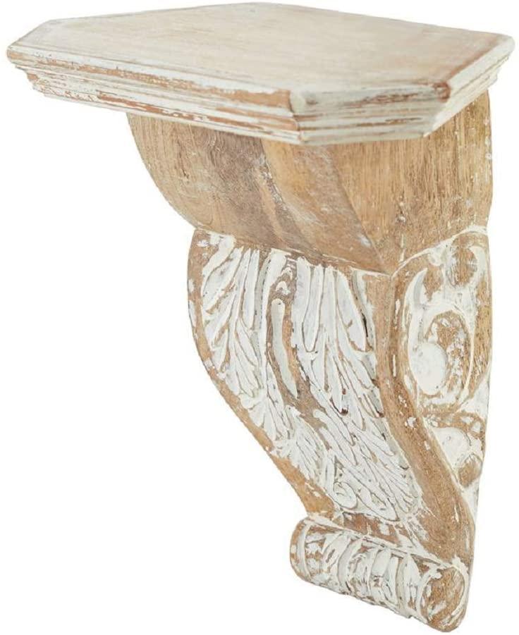 Mud Pie White-Wash Wood Corbel Shelf
