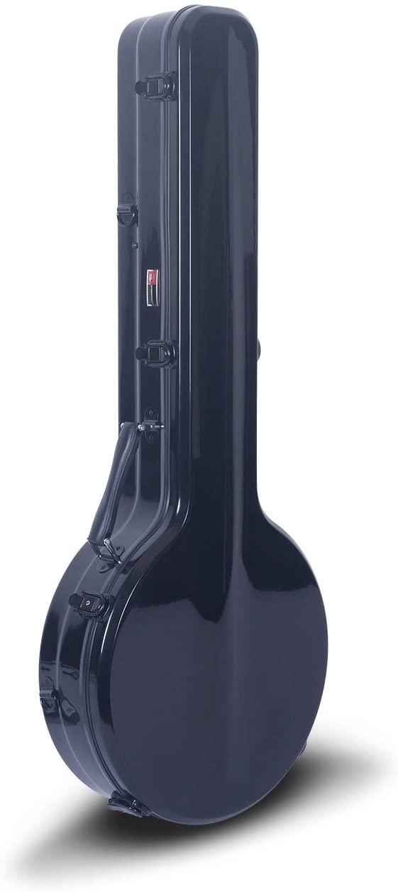 Crossrock CRF2000BJBK Fiberglass Case, Fit for 5-String Resonator Banjo, Backpack Style in Black