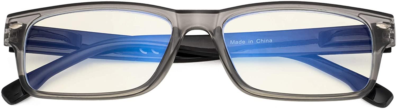 CessBlu Blue Light Filtering Computer Glasses Anti UV Rays Glare Reader Eyeglasses for Men Women Reading Digital Screen