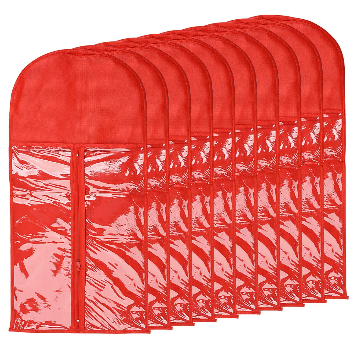 Wig Storage Bag Holder Case, Wigs Pouch Dust-Proof Organizer Protect for Professional Hair Extensions (Red)