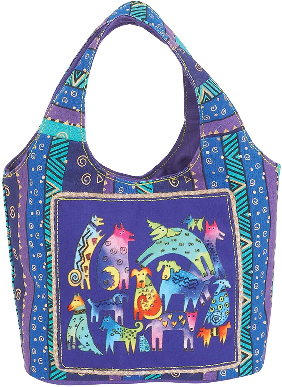 Laurel Burch Mythical Dogs Small Scoop Handbag 5394
