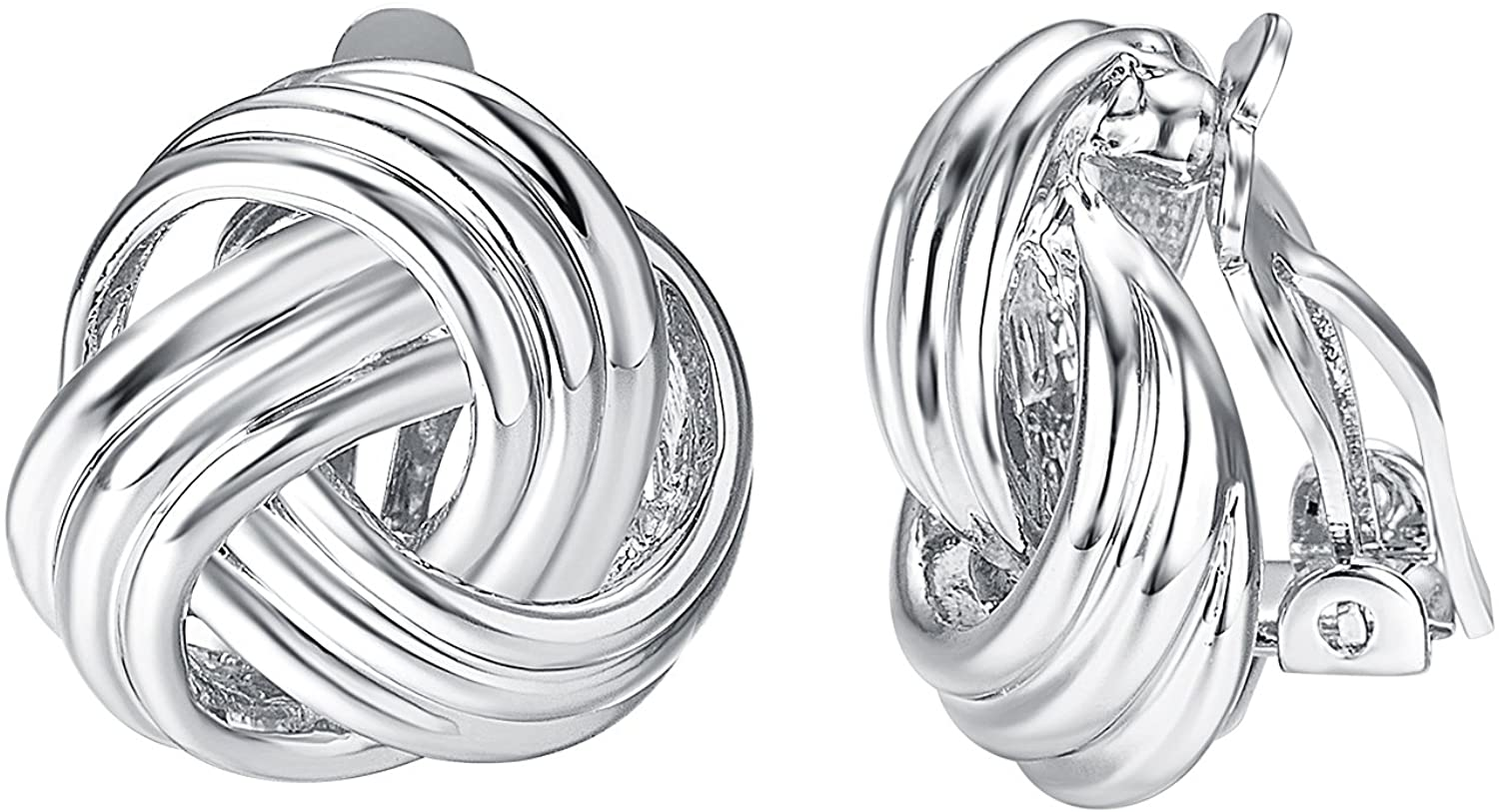 Yoursfs Clip on Earrings for Women Fashion Love Knot Forever Love Jewelry