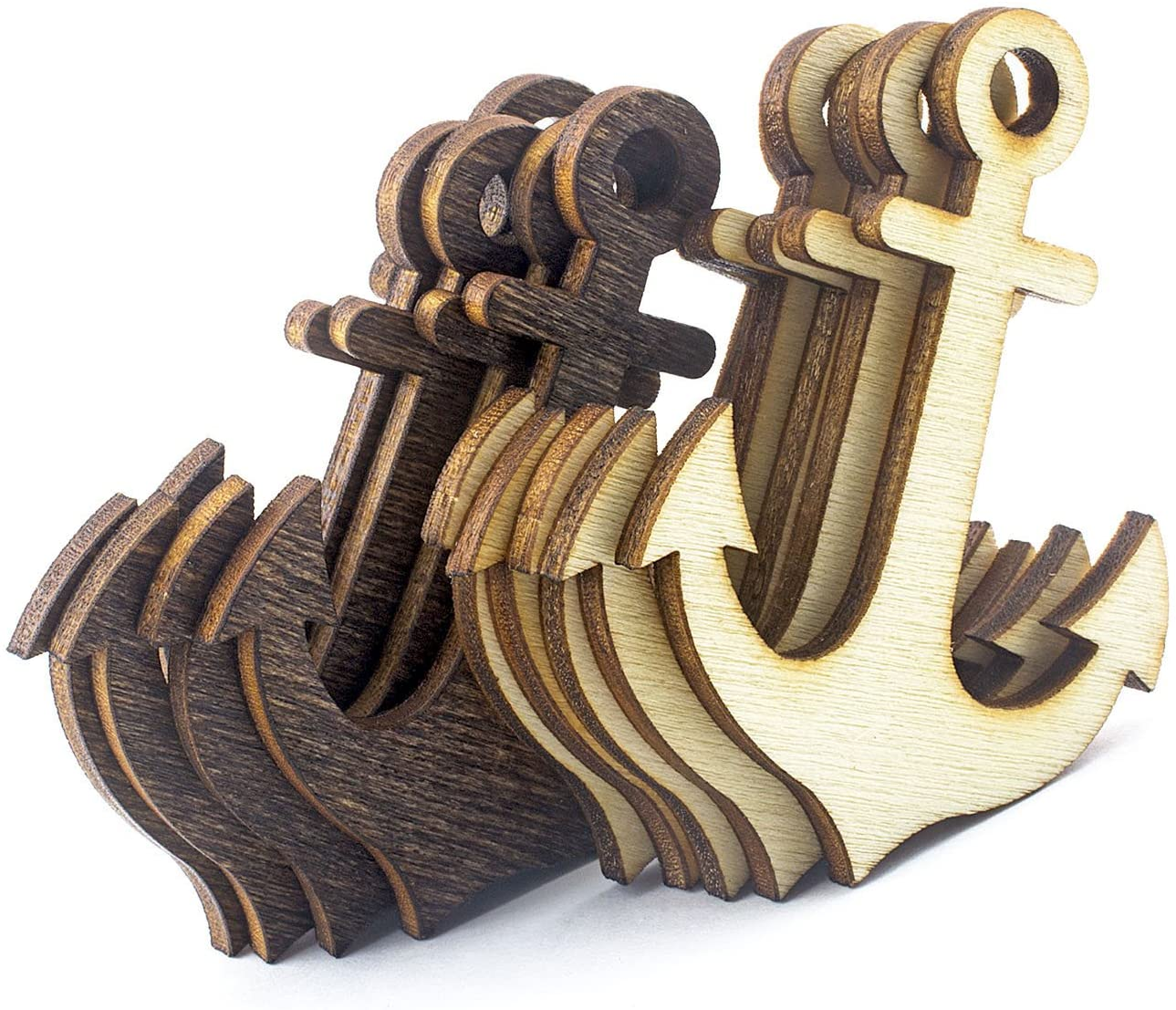 Summer-Ray 50pcs Laser Cut Wooden Veneer Anchor 2
