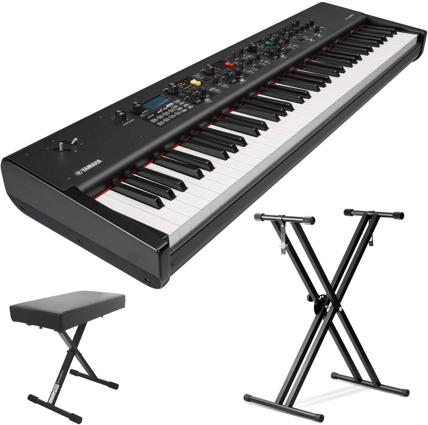Yamaha CP73 73-Key Weighted Hammer Action Stage Piano (with Sustain Pedal, Keyboard Stand and Bench)