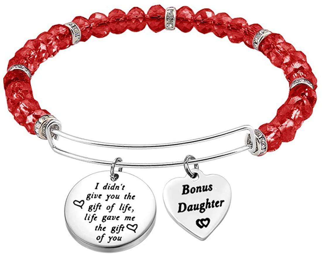 Zuo Bao Stepdaughter Gifts Daughter in Law Bracelet I Didn't Give You The Gift of Life Life Gave Me The Gift of You Step Daughter Gifts from Stepmom