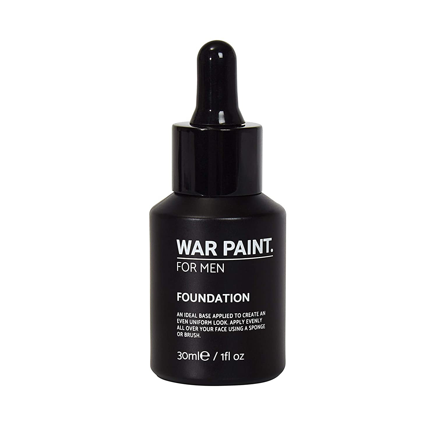 War Paint Mens Foundation (Fair) - 5 Shades available - Quality Vegan Ingredients, Cruelty Free Make-up - Full coverage Mens Make-up Products - Made in the UK
