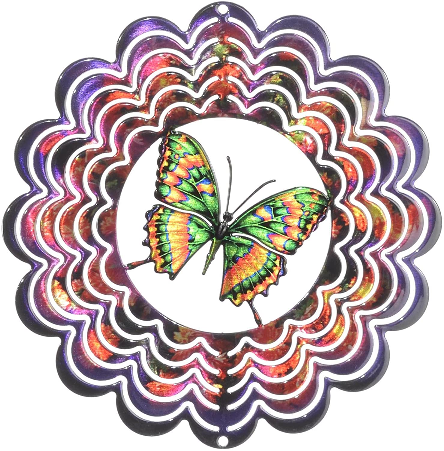 Next Innovations Medium Purple Butterfly Windspinner