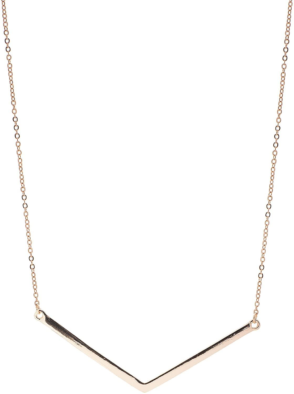 chelseachicNYC Tiny Jewel Minimal Simple Chevron Arrow Necklace