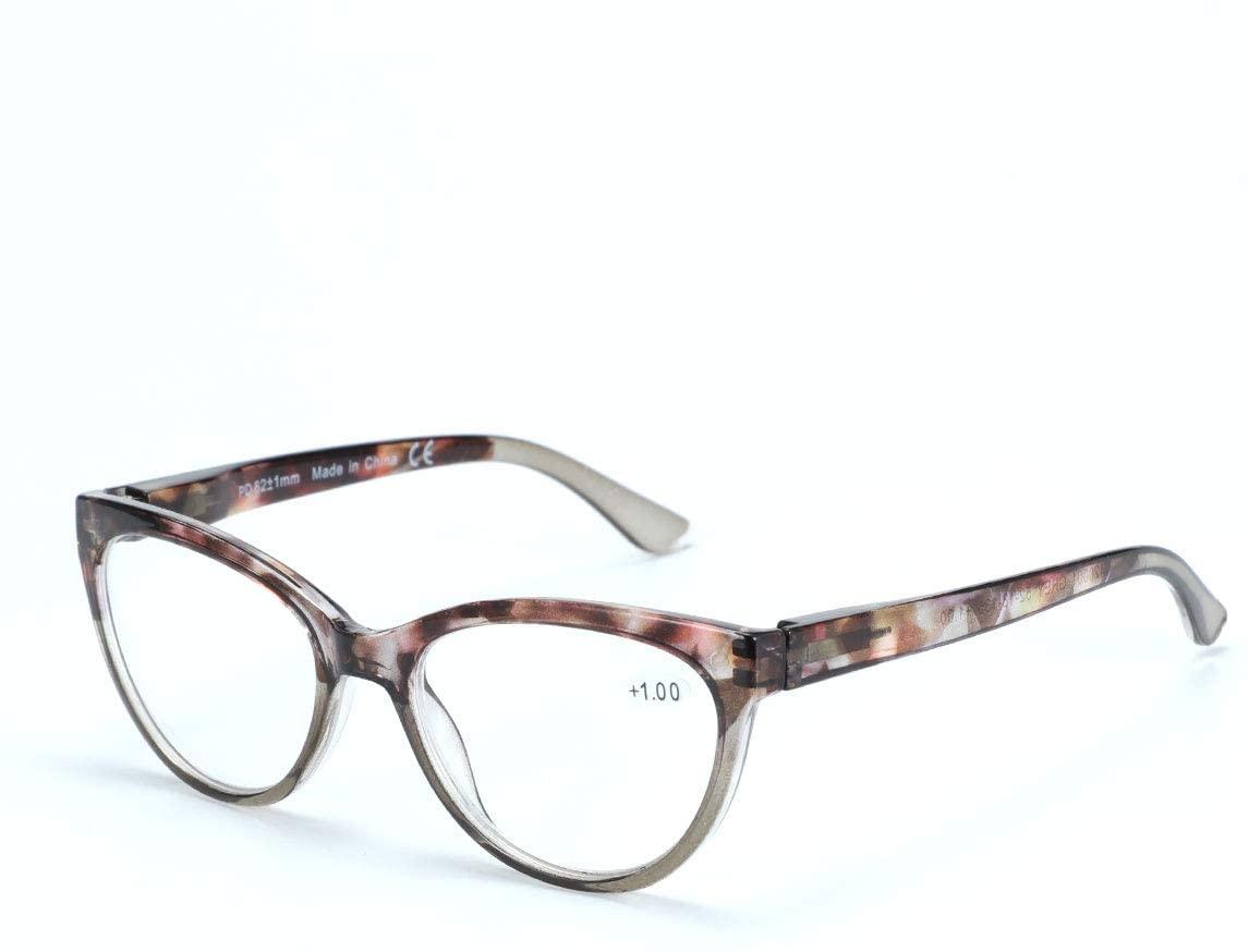 ZENOTTIC Reading Glasses Cat Eye Glasses Frames for Women, Clear Lens, Suitable for Work/Reading/Outdoor/Party Etc.
