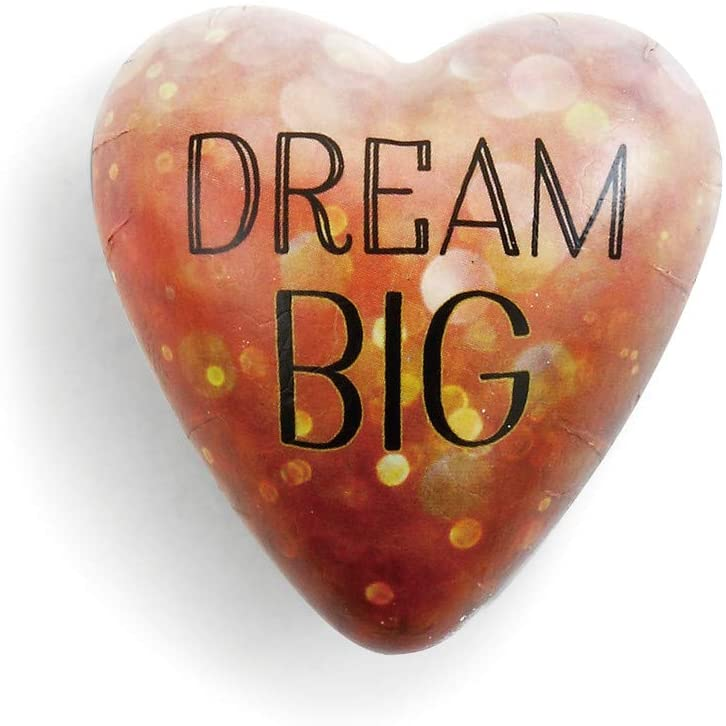DEMDACO Dream Big Gold Tone City Twinkle Lights 2 x 1.5 Inch Resin Stone Art Hearts Pocket Prayer Collectible Token