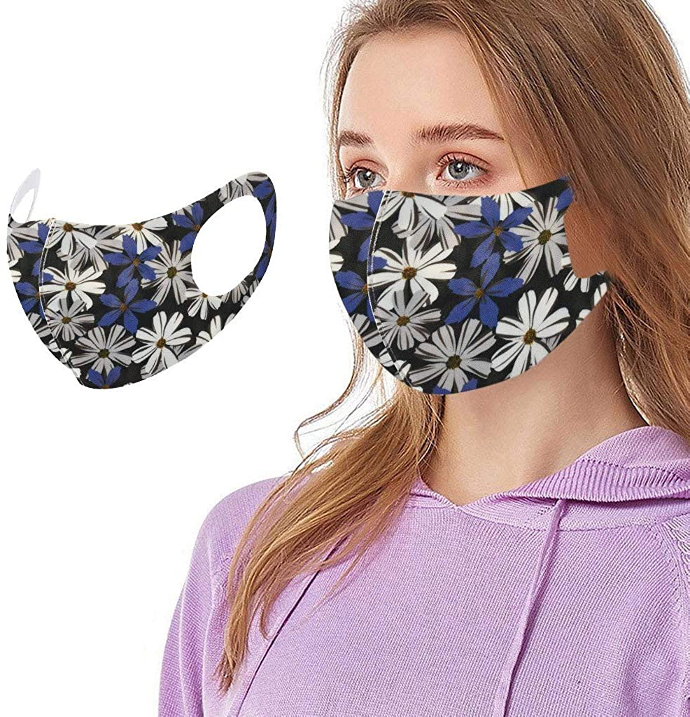 1PC Funny Colorful Printed Adults Cycling Reusable Breathable Fashion Sunscreen Adjustable Washable Cloth Face_Mask